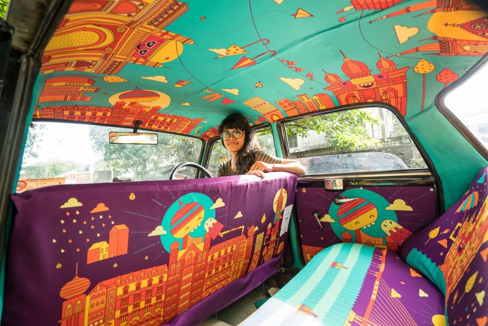 'Taxi Fabric' transforms Mumbai cabs from drab to fab