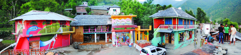 ShopArt ArtShop transforms a small village in Himachal into an art gallery