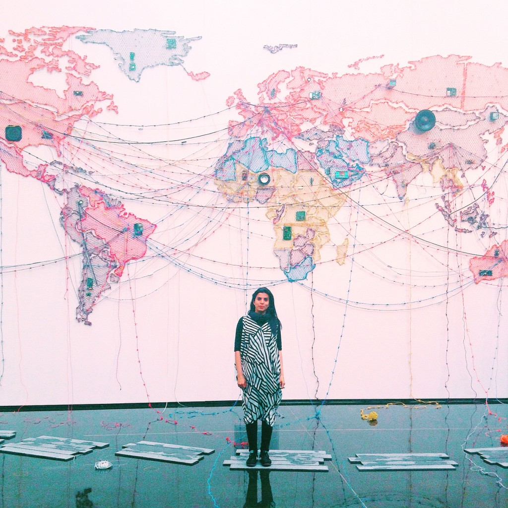 Reena Kallat's 'Woven Chronicle' questions what borders mean in an interconnected world